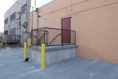 Commercial Railing / Cement Parking Lot