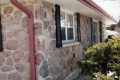 Facelift on soffit & stone